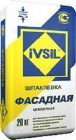 Ivsil ФАСАДНАЯ 20кг шпаклевка белая 0.5-8мм